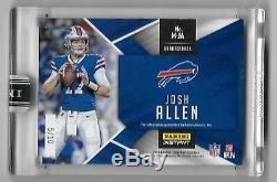 2018 Panini Instant NFL Josh Allen Metal Autographed Rookie Card 4/10