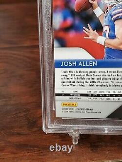 2018 Panini Neon Green Pulsar Prizm Josh Allen #205 Bills RC Rookie PSA 9 MINT