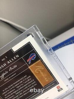 2018 Panini One Josh Allen Auto 4 Color Patch Rc Rookie #48/199 Bills Gem Mint