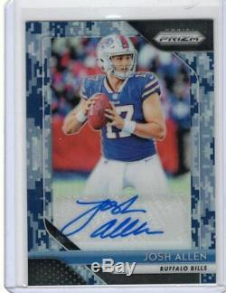 2018 Panini Prizm Football Josh Allen Camo Rookie Auto #1/25 Ebay 1 of 1 Bills
