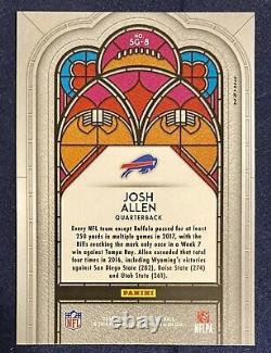 2018 Panini Prizm Josh Allen Stained Glass Silver RC Rookie SSP Case HitREAD
