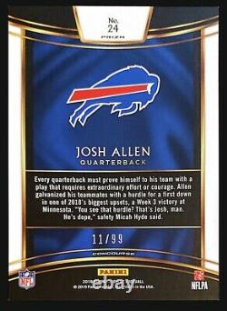2018 Panini Select Josh Allen Rc Maroon Prizm #/99 Bills Rookie
