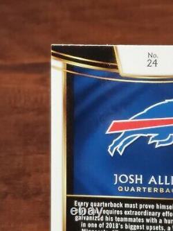 2018 Panini Select Josh Allen Rookie Concourse Base Card #24 Buffalo Bills MVP