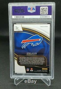 2018 Panini Select Silver Prizm Field Level #207 Josh Allen Rc Psa 10 Bills
