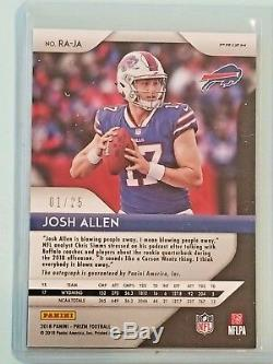 2018 Prizm Josh Allen Camo Rookie RC Auto Autograph 01/25 Ebay 1/1