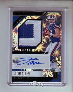 2018 Unparalleled Autograph Jersey Josh Allen 22/75 Buffalo Bills