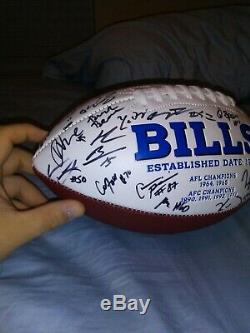 2019 Buffalo Bills Signed Team White Panel Football NFL