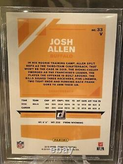 2019 Donruss Josh Allen Orange Foil Sp 17/17 Bgs 9.5 Gem Mint Refractor