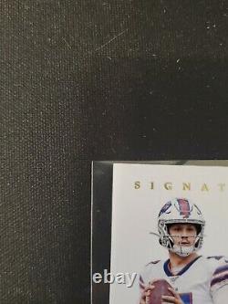 2019 Flawless Josh Allen 3/15 On Card Auto Nike Patch Buffalo Bills