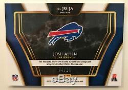 2019 Panini Select JOSH ALLEN Auto Patch #/10 Gold Autograph Bills Prizm