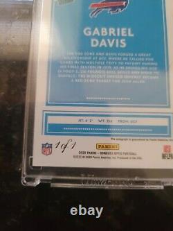 2020 Optic Football Gabriel Davis Gold Vinyl Auto 1/1 Buffalo Bills Rookie
