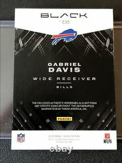 2020 Panini Black Gabriel Davis 1/1 RPA NFL Shield Patch Rookie PatchAuto! Bills