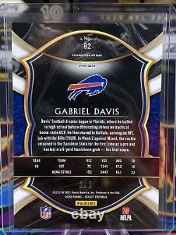 2020 Panini Select Concourse Green Snakeskin Gabriel Davis #2/2 Bills RC