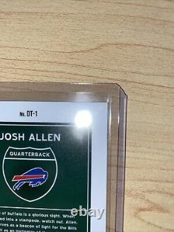 2021 Donruss Downtown Josh Allen SSP Case Hit Buffalo Bills