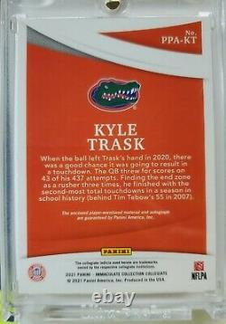 2021 Immaculate Kyle Trask Jumbo Bowl Patch On Card Auto Rpa #'d 4/5! Wow