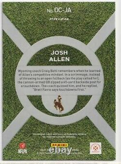 2021 Panini Prizm Draft Picks Josh Allen On Campus SSP