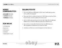 2021 Panini Score NFL Football Hobby Box New And Factory Sealed Free Shipping