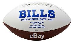 Andre Reed Signed Buffalo Bills Logo Football HOF 14 Inscribed JSA