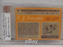 BVG 7 NEAR MINT 1970 Topps #90 O. J. Simpson Buffalo Bills