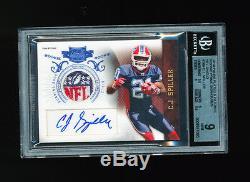 Bgs 9 Cj C. J. Spiller 2010 Panini Plates & Patches NFL Logo Bills Auto Rc #1/1
