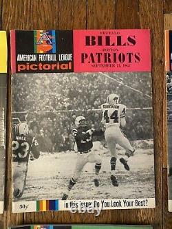 Buffalo Bills 1965 COMPLETE Program Set Of 8 Vintage AFL Football Rare
