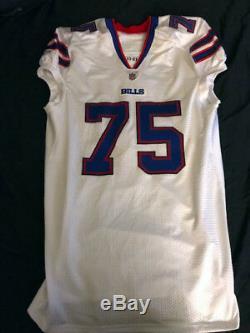 Buffalo Bills Game Used Chris Hairston 2011 Reebok NFL Football Jersey Size 52