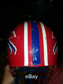 Buffalo Bills Game Used NFL Football Helmet 1990's Game Worn Riddell Bruce Smith