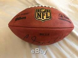 Buffalo Bills Game Used Signed Football Cj Spiller #28 NFL Gameball