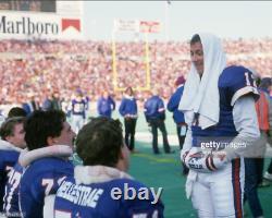 Buffalo Bills Jim Kelly Game Used Worn Football 2 Wristbands 1989 Season with COA