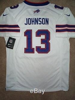 Buffalo Bills STEVIE JOHNSON nfl NIKE Jersey YOUTH KIDS BOYS (L-LARGE) WHITE