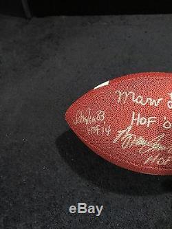 Buffalo Bills Signed Football 4 HOFers Thurman Andre Reed Marv Levy Bruce JSA