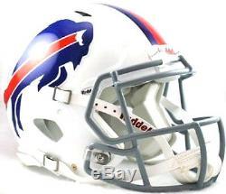 Buffalo Bills White Riddell NFL Football Authentic Speed Full Size Helmet