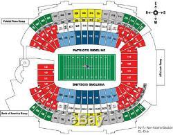 Buffalo Bills at New England Patriots 4 tickets 12-21-2019 Tom Brady HOF NFL