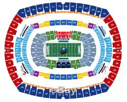 Buffalo Bills at New York Giants 2 AISLE tickets 9-15-2019 seats LESS THAN FACE