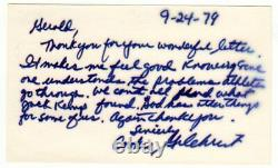 Cookie Gilchrist Buffalo Bills Football Signed Index Card SUPER RARE