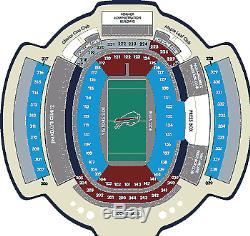 Denver Broncos at Buffalo Bills 2 AISLE tickets 11-24-2019 seats Rock Pile NFL