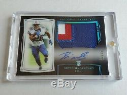 Devin Singletary 2019 National Treasures 3-color Patch On-card Auto Rc #12/20