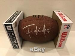 Frank Gore Signed Wilson NFL Football BUFFALO BILLS RB Autographed COA/Hologram