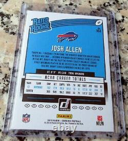 JOSH ALLEN 2018 Donruss #1 Draft Pick RATED Rookie Card RC $ HOT $ Buffalo Bills