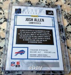 JOSH ALLEN 2018 Donruss Elite #1 Draft Pick Rookie Card RC Bills SP $$ HOT $$