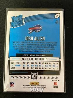 JOSH ALLEN 2018 Donruss Optic RED AND YELLOW PRIZM SP Rookie RC #154 Bills