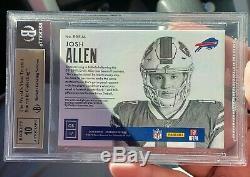 JOSH ALLEN 2018 ENCASED ROOKIE ON CARD AUTO PATCH BGS 9.5 #01/10 Buffalo Bills