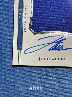 JOSH ALLEN 2018 National Treasures Colossal Jersey Auto Rookie 51/99 Bills