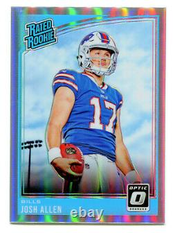 JOSH ALLEN 2018 Panini Donruss Optic Prizm Holo Silver Rated Rookie Card RC SP