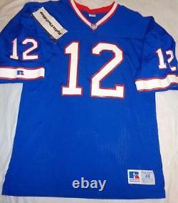 Jim Kelly 12 Buffalo Bills Russell Athletic NFL Football Jersey Adult 48