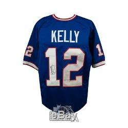 Jim Kelly Autographed Buffalo Bills Custom Blue Football Jersey JSA COA