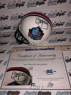 Jim Kelly Buffalo Bills Hof Signed Autographed White Football Mini-helmet-coa