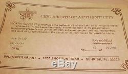 Jim Kelly SUPERBOWL COA 1994 Sportacular Art Serigraph Football Bills/U of Miami