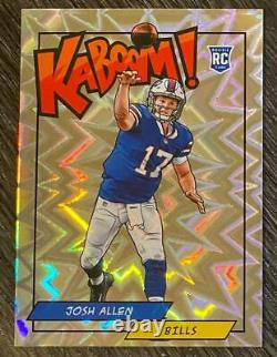 Josh Allen 2018 18 Panini Kaboom! Rookie Card #K-JA Buffalo Bills Future MVP RC