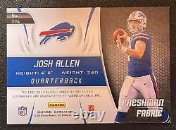 Josh Allen 2018 Certified Freshman Fabric Auto #204 RC 048/175 Buffalo Bills
